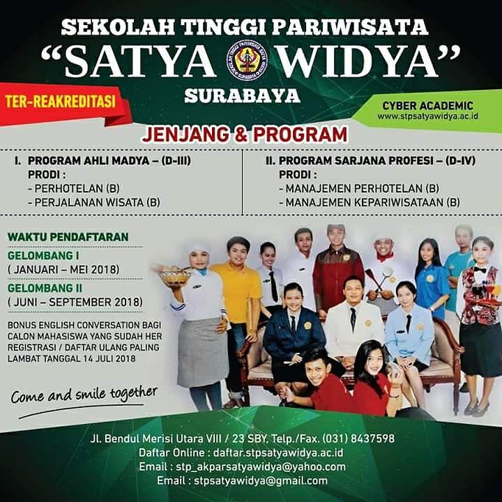 Banner PMB STP SatyaWidya Surabaya